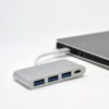 4-in-1 USB C Hub 3x Type USB 3.0 Ports And 1x Type C